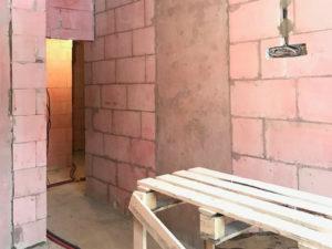 В качестве материала стен, остановили выбор на газоблоках толщиной 200мм D600